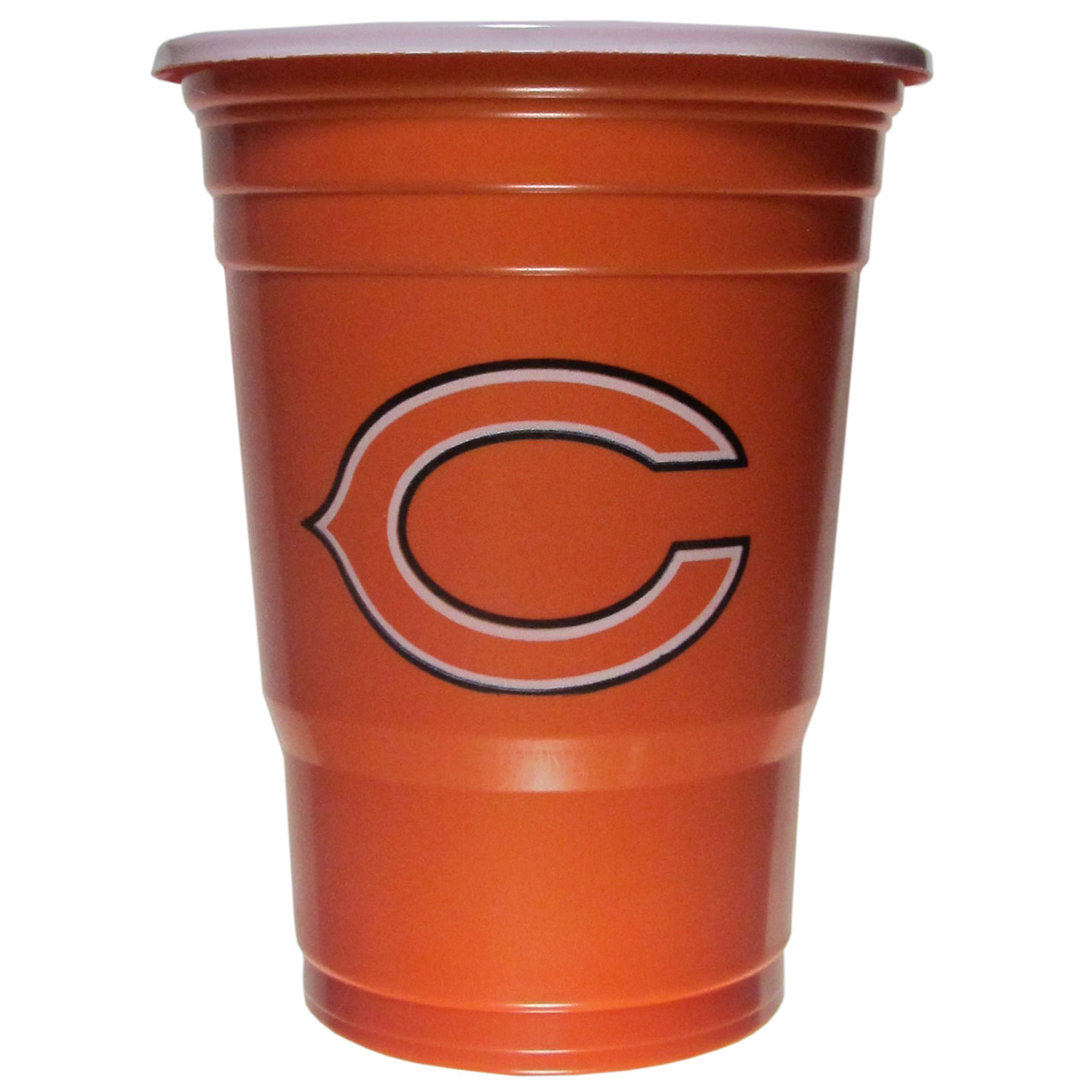 Chicago Bears Plastic Game Day Cups 2 sleeves of 18 (36 Cups) - Our 18 ounce game day cups are what every tailgating or backyard events needs! The cups feature a big Chicago Bears logo so you can show off your team pride. The popular 18 ounce size is perfect for drinks or ping pong balls! 2 sleeves of 18 cups, 36 cups in total.