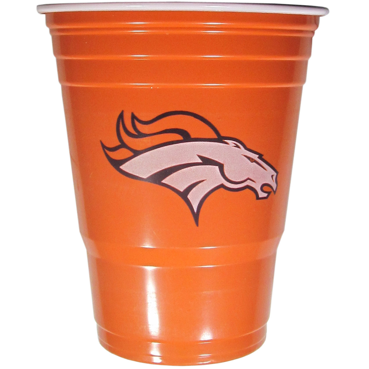 Denver Broncos Plastic Game Day Cups - Our 18 ounce game day cups are what every tailgating or backyard events needs! The cups feature a big Denver Broncos logo so you can show off your team pride. The popular 18 ounce size is perfect for drinks or ping pong balls! Sold in sleeves of 18 cups.