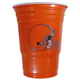 Cleveland Browns Plastic Game Day Cups - Our Cleveland Browns 18 ounce game day cups are what every tailgating or backyard events needs! The cups feature a big Cleveland Browns logo so you can show off your team pride. The popular 18 ounce size is perfect for drinks or ping pong balls! Sold in sleeves of 18 cups. Officially licensed NFL product Licensee: Siskiyou Buckle. Thank you for visiting CrazedOutSports!