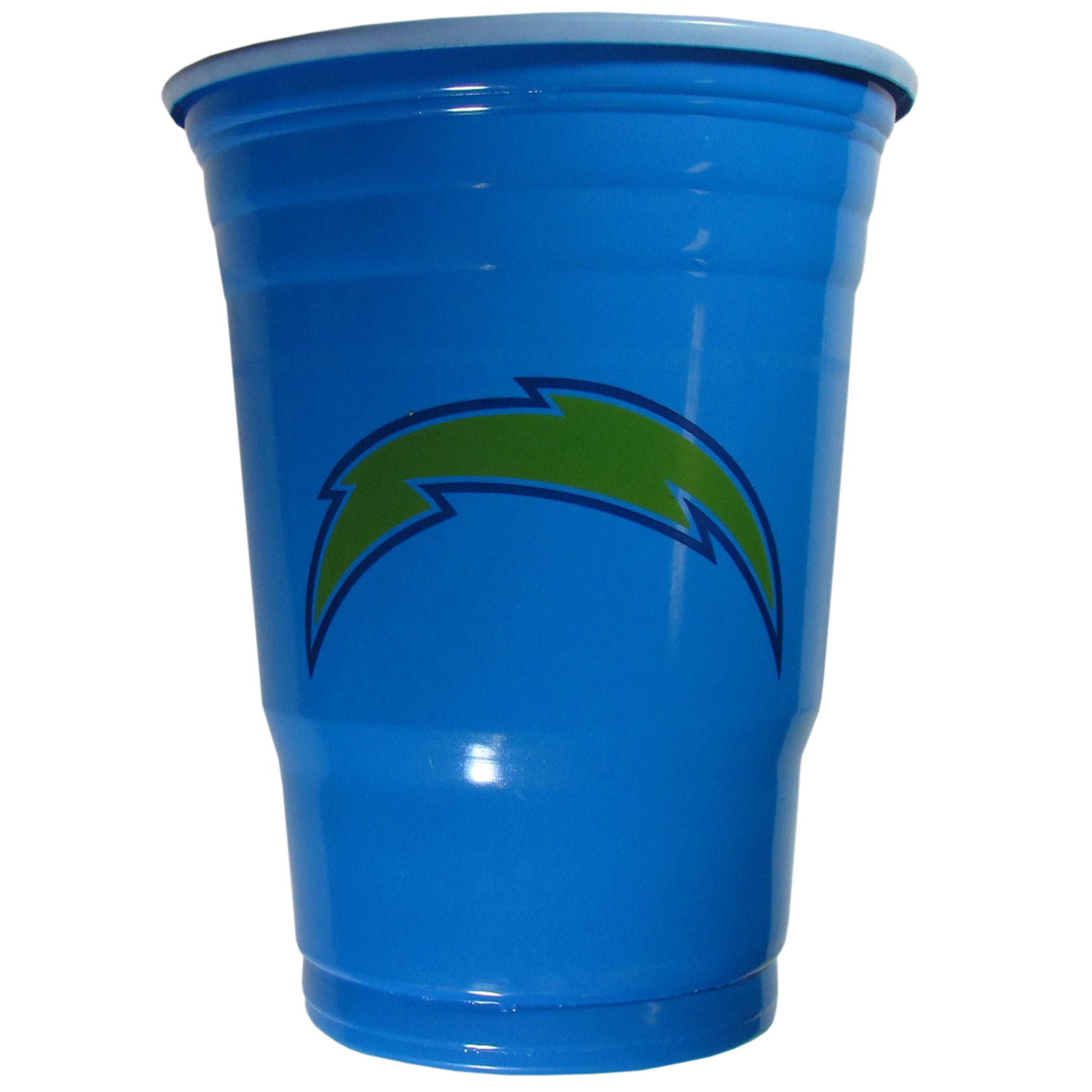 Los Angeles Chargers Plastic Game Day Cups 2 sleeves of 18 (36 Cups) - Our 18 ounce game day cups are what every tailgating or backyard events needs! The cups feature a big Los Angeles Chargers logo so you can show off your team pride. The popular 18 ounce size is perfect for drinks or ping pong balls! 2 sleeves of 18 cups, 36 cups in total.