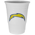 San Diego Chargers Game Day Cups - Our San Diego Chargers 18 ounce NFL game day cups are what every tailgating or backyard events needs! The cups feature a big San Diego Chargers logo so you can show off your team pride. The popular 18 ounce size is perfect for drinks or ping pong balls! Sold in sleeves of 18 cups Officially licensed NFL product Licensee: Siskiyou Buckle .com