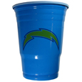 San Diego Chargers Plastic Game Day Cups - Our San Diego Chargers 18 ounce game day cups are what every tailgating or backyard events needs! The cups feature a big San Diego Chargers logo so you can show off your team pride. The popular 18 ounce size is perfect for drinks or ping pong balls! Sold in sleeves of 18 cups. Officially licensed NFL product Licensee: Siskiyou Buckle. !