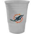 Miami Dolphins Game Day Cups - Our Miami Dolphins 18 ounce NFL game day cups are what every tailgating or backyard events needs! The cups feature a big Miami Dolphins logo so you can show off your team pride. The popular 18 ounce size is perfect for drinks or ping pong balls! Sold in sleeves of 18 cups Officially licensed NFL product Licensee: Siskiyou Buckle .com