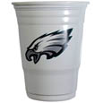Philadelphia Eagles Game Day Cups - Our Philadelphia Eagles 18 ounce NFL game day cups are what every tailgating or backyard events needs! The cups feature a big Philadelphia Eagles logo so you can show off your team pride. The popular 18 ounce size is perfect for drinks or ping pong balls! Sold in sleeves of 18 cups Officially licensed NFL product Licensee: Siskiyou Buckle .com