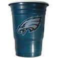 Philadelphia Eagles Game Day Cups - Our Philadelphia Eagles 18 ounce NFL game day cups are what every tailgating or backyard events needs! The cups feature a big Philadelphia Eagles logo so you can show off your team pride. The popular 18 ounce size is perfect for drinks or ping pong balls! Sold in sleeves of 18 cups. Officially licensed NFL product Licensee: Siskiyou Buckle .com