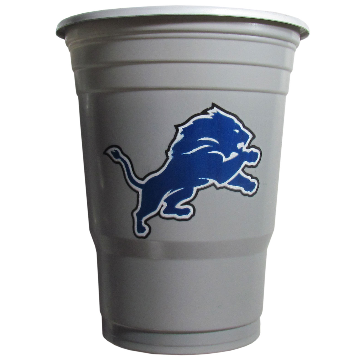 Detroit Lions Plastic Game Day Cups 2 sleeves of 18 (36 Cups) - Our 18 ounce game day cups are what every tailgating or backyard events needs! The cups feature a big Detroit Lions logo so you can show off your team pride. The popular 18 ounce size is perfect for drinks or ping pong balls! 2 sleeves of 18 cups, 36 cups in total.