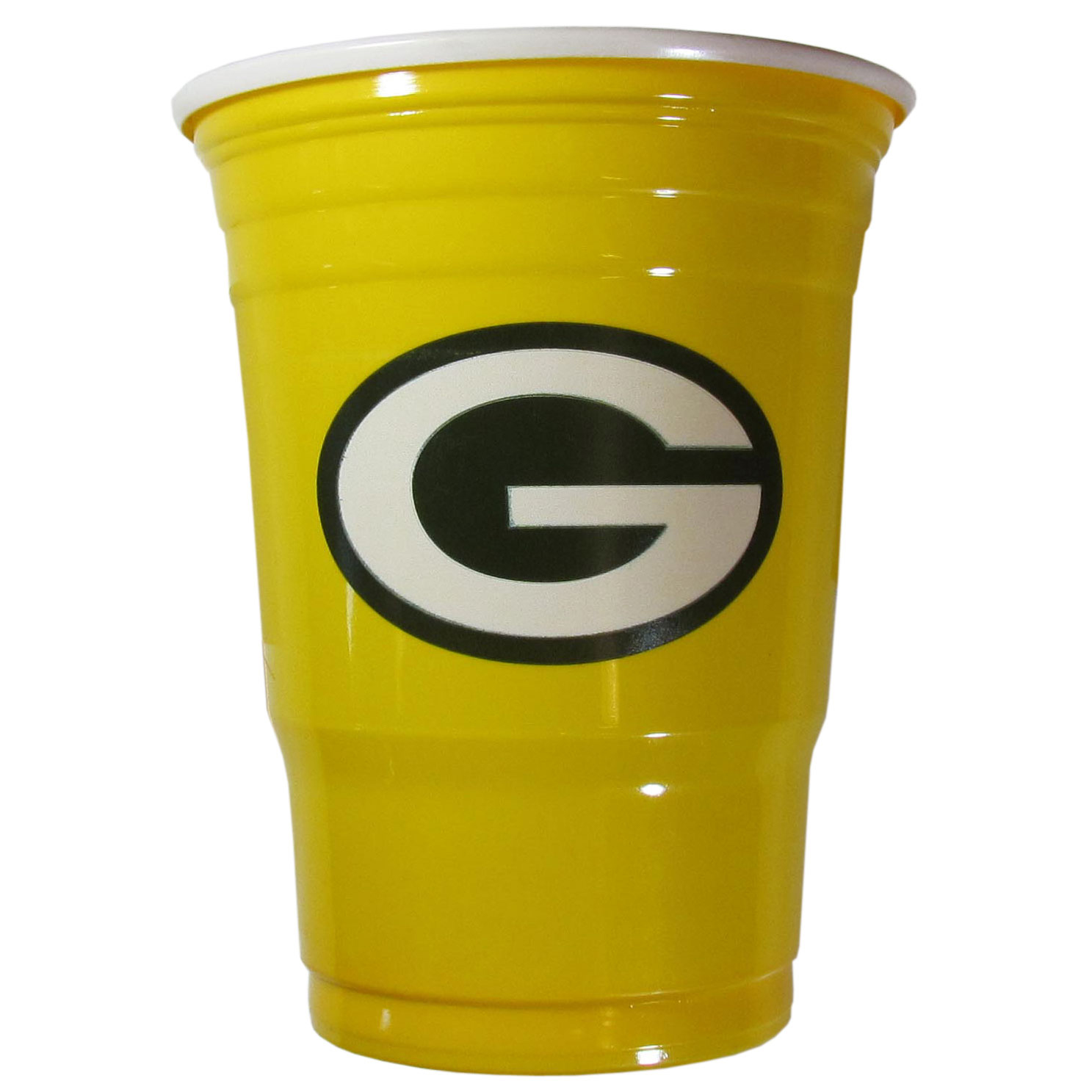 Green Bay Packers Plastic Game Day Cups - Our 18 ounce game day cups are what every tailgating or backyard events needs! The cups feature a big Green Bay Packers logo so you can show off your team pride. The popular 18 ounce size is perfect for drinks or ping pong balls! Sold in sleeves of 18 cups.