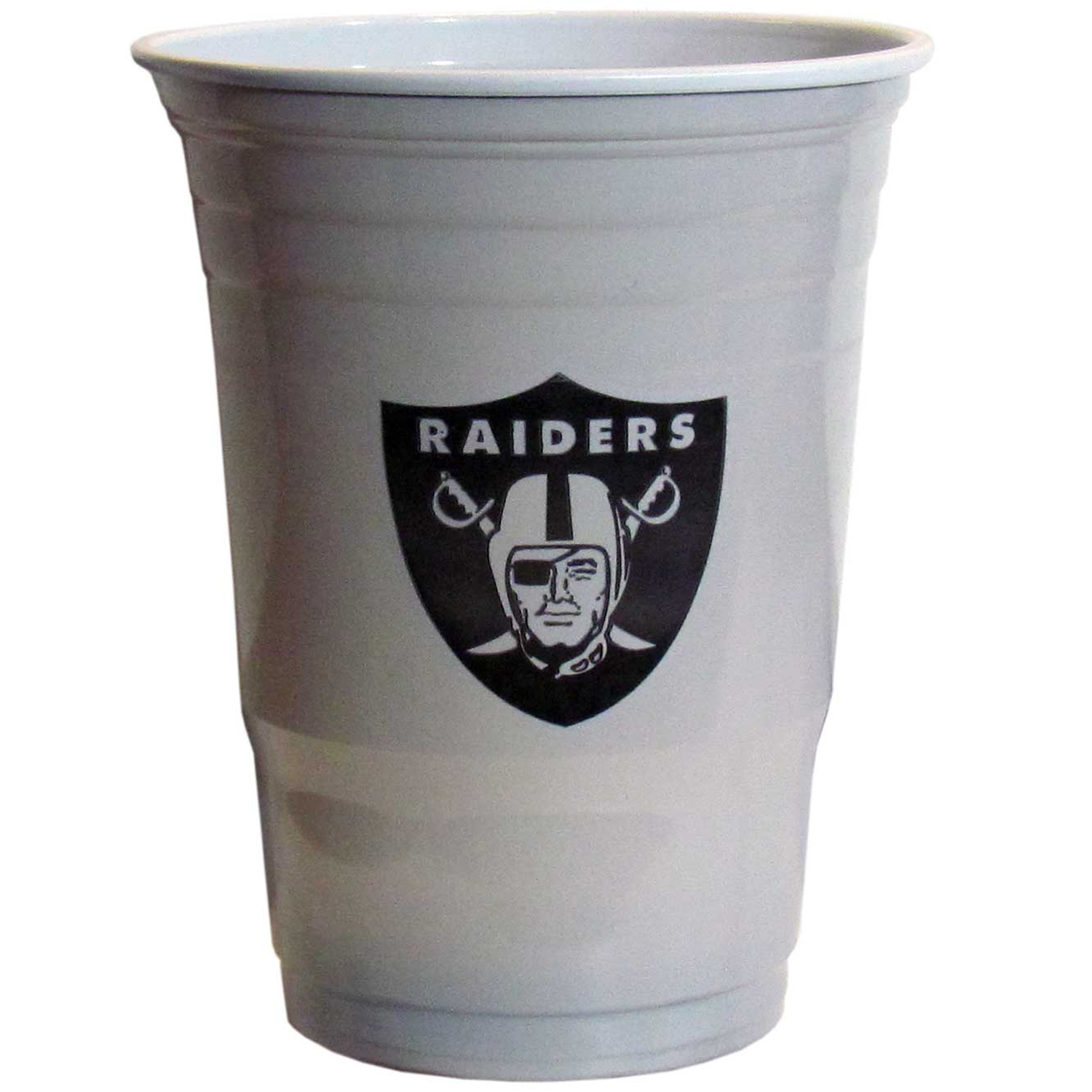 Oakland Raiders Plastic Game Day Cups 2 sleeves of 18 (36 Cups) - Our 18 ounce game day cups are what every tailgating or backyard events needs! The cups feature a big Oakland Raiders logo so you can show off your team pride. The popular 18 ounce size is perfect for drinks or ping pong balls! 2 sleeves of 18 cups, 36 cups in total.
