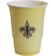 New Orleans Saints Game Day Cups - Our NFL game day cups come in a sleeve of 18 disposable 18 oz plastic cups and feature a silk screened New Orleans Saints logo. Officially licensed NFL product Licensee: Siskiyou Buckle .com