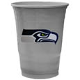 Seattle Seahawks Game Day Cups - Our Seattle Seahawks 18 ounce NFL game day cups are what every tailgating or backyard events needs! The cups feature a big Seattle Seahawks logo so you can show off your team pride. The popular 18 ounce size is perfect for drinks or ping pong balls! Sold in sleeves of 18 cups Officially licensed NFL product Licensee: Siskiyou Buckle Thank you for visiting CrazedOutSports.com
