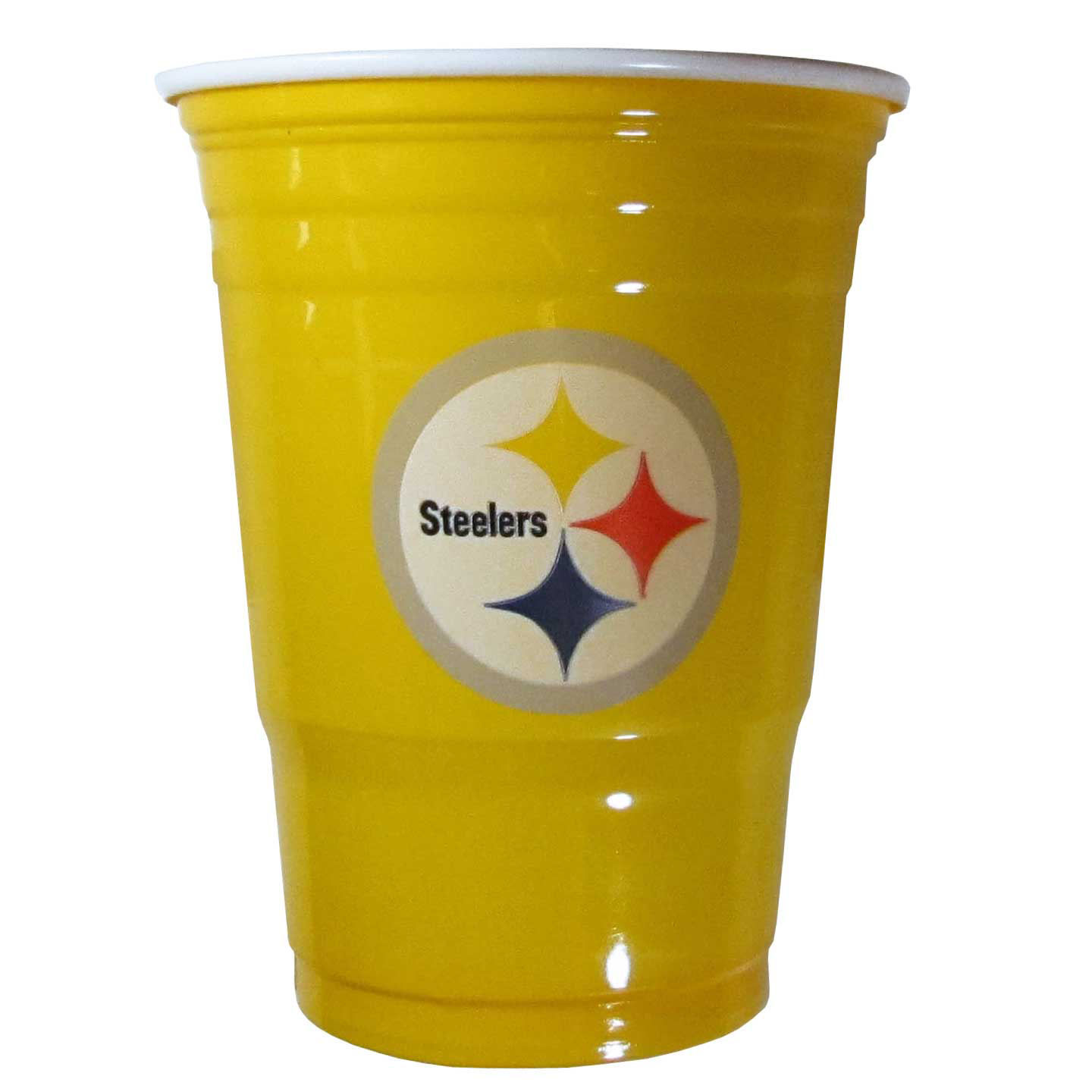 Pittsburgh Steelers Plastic Game Day Cups 2 sleeves of 18 (36 Cups) - Our 18 ounce game day cups are what every tailgating or backyard events needs! The cups feature a big Pittsburgh Steelers logo so you can show off your team pride. The popular 18 ounce size is perfect for drinks or ping pong balls! 2 sleeves of 18 cups, 36 cups in total.