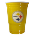 Pittsburgh Steelers Game Day Cups - Our Pittsburgh Steelers 18 ounce NFL game day cups are what every tailgating or backyard events needs! The cups feature a big Pittsburgh Steelers logo so you can show off your team pride. The popular 18 ounce size is perfect for drinks or ping pong balls! Sold in sleeves of 18 cups. Officially licensed NFL product Licensee: Siskiyou Buckle .com