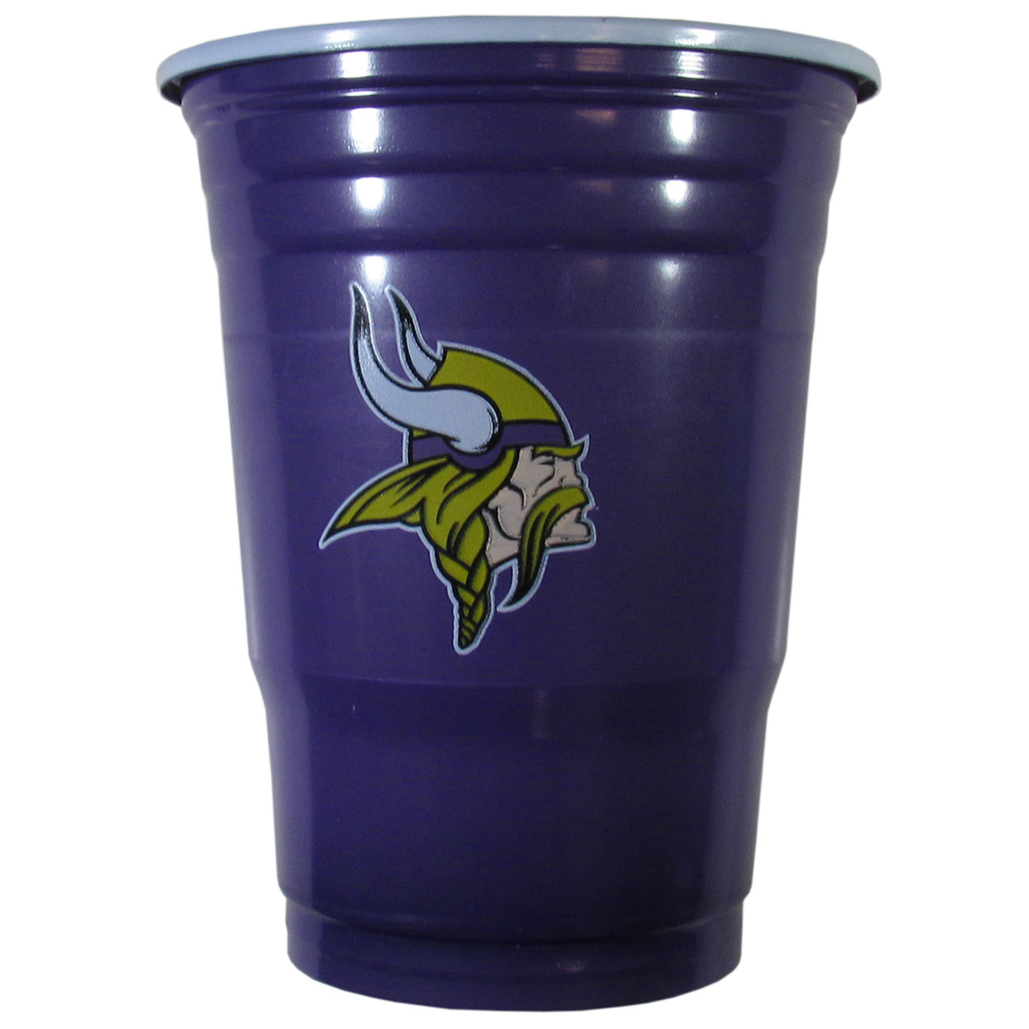 Minnesota Vikings Plastic Game Day Cups - Our 18 ounce game day cups are what every tailgating or backyard events needs! The cups feature a big Minnesota Vikings logo so you can show off your team pride. The popular 18 ounce size is perfect for drinks or ping pong balls! Sold in sleeves of 18 cups.