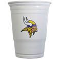 Minnesota Vikings Game Day Cups - Our Minnesota Vikings 18 ounce NFL game day cups are what every tailgating or backyard events needs! The cups feature a big Minnesota Vikings logo so you can show off your team pride. The popular 18 ounce size is perfect for drinks or ping pong balls! Sold in sleeves of 18 cups Officially licensed NFL product Licensee: Siskiyou Buckle Thank you for visiting CrazedOutSports.com
