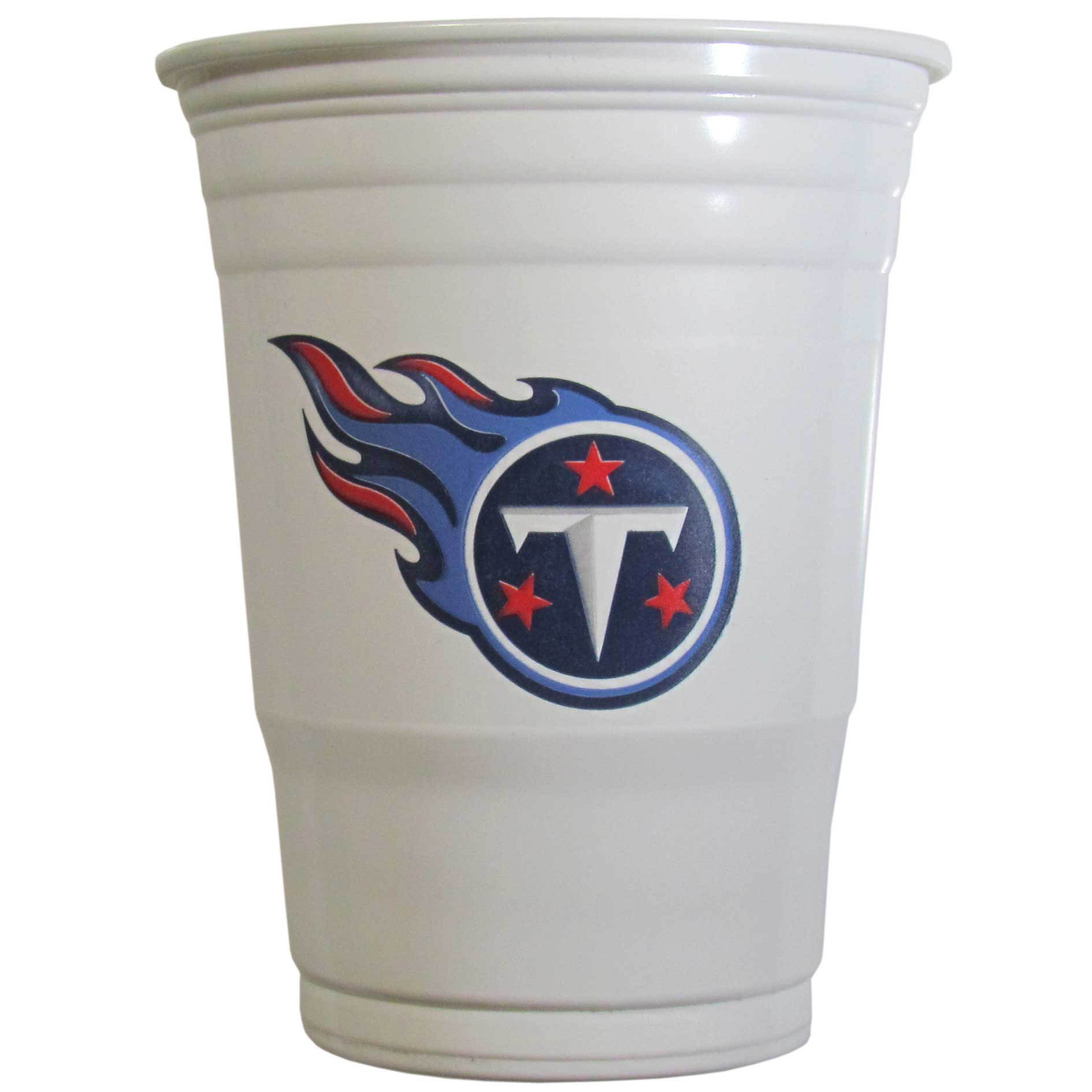 Tennessee Titans Plastic Game Day Cups 2 sleeves of 18 (36 Cups) - Our 18 ounce game day cups are what every tailgating or backyard events needs! The cups feature a big Tennessee Titans logo so you can show off your team pride. The popular 18 ounce size is perfect for drinks or ping pong balls! 2 sleeves of 18 cups, 36 cups in total.