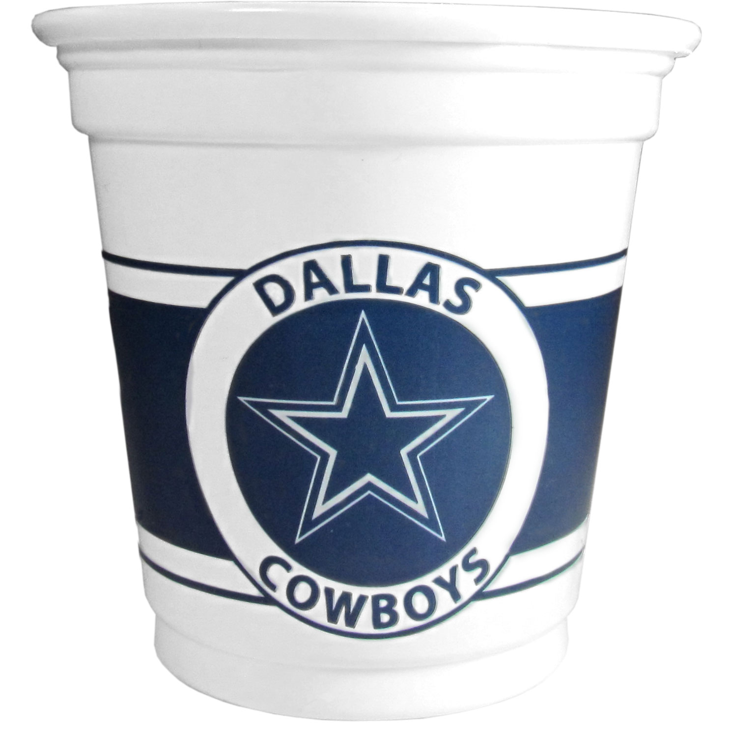 Dallas Cowboys 18 Game Day Mini Cups - No better way to show your off your team pride on game day than these Dallas Cowboys game day mini cups. The 3 ounce disposable glasses are the perfect addition to your game day party or tailgating BBQ. The cups come in a sleeve of 18 to make sure everyone is sporting true team spirit!