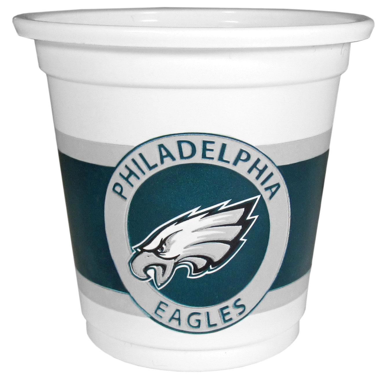 Philadelphia Eagles 18 Game Day Mini Cups - No better way to show your off your team pride on game day than these Philadelphia Eagles game day mini cups. The 3 ounce disposable glasses are the perfect addition to your game day party or tailgating BBQ. The cups come in a sleeve of 18 to make sure everyone is sporting true team spirit!