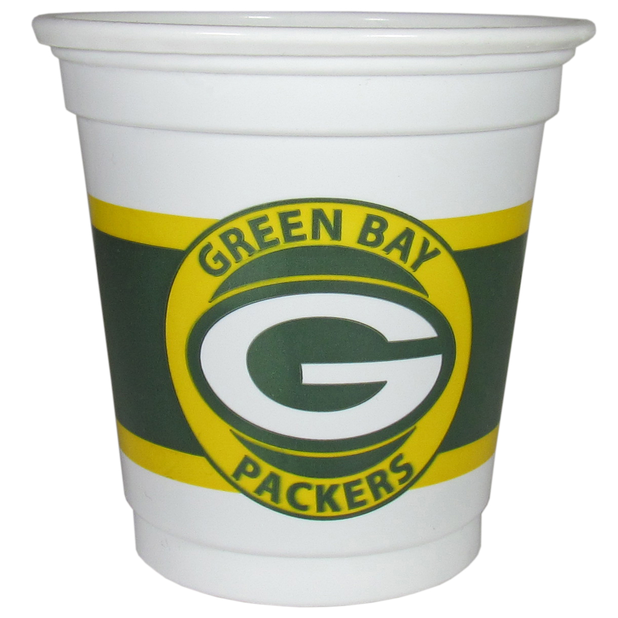 Green Bay Packers 18 Game Day Mini Cups - No better way to show your off your team pride on game day than these Green Bay Packers game day mini cups. The 3 ounce disposable glasses are the perfect addition to your game day party or tailgating BBQ. The cups come in a sleeve of 18 to make sure everyone is sporting true team spirit!