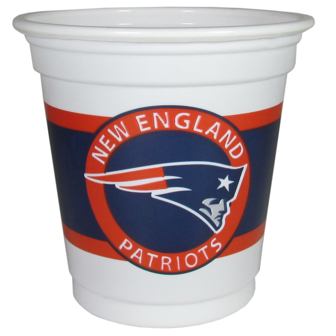 New England Patriots 18 Game Day Mini Cups - No better way to show your off your team pride on game day than these New England Patriots game day mini cups. The 3 ounce disposable glasses are the perfect addition to your game day party or tailgating BBQ. The cups come in a sleeve of 18 to make sure everyone is sporting true team spirit!