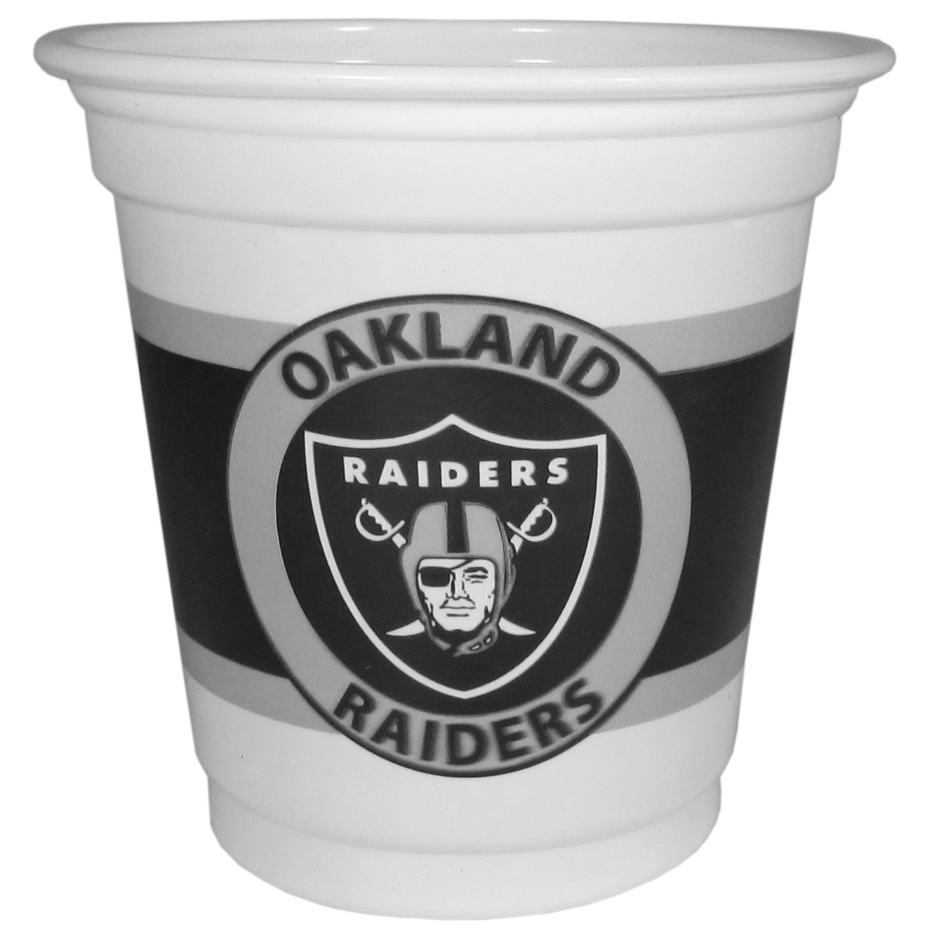 Oakland Raiders 18 Game Day Mini Cups - No better way to show your off your team pride on game day than these Oakland Raiders game day mini cups. The 3 ounce disposable glasses are the perfect addition to your game day party or tailgating BBQ. The cups come in a sleeve of 18 to make sure everyone is sporting true team spirit!