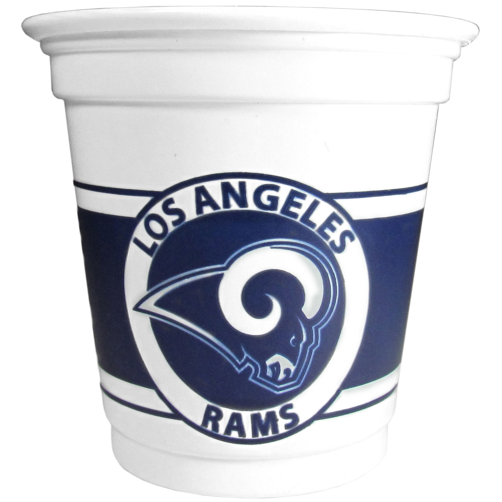 Los Angeles Rams 18 Game Day Mini Cups - No better way to show your off your team pride on game day than these Los Angeles Rams game day mini cups. The 3 ounce disposable glasses are the perfect addition to your game day party or tailgating BBQ. The cups come in a sleeve of 18 to make sure everyone is sporting true team spirit!