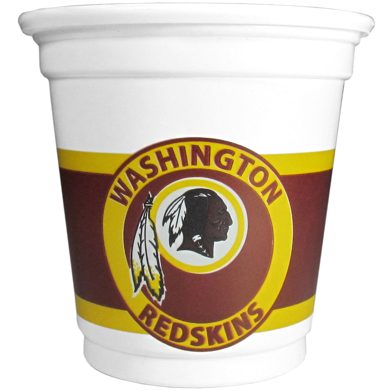 Washington Redskins 18 Game Day Mini Cups - No better way to show your off your team pride on game day than these Washington Redskins game day mini cups. The 3 ounce disposable glasses are the perfect addition to your game day party or tailgating BBQ. The cups come in a sleeve of 18 to make sure everyone is sporting true team spirit!