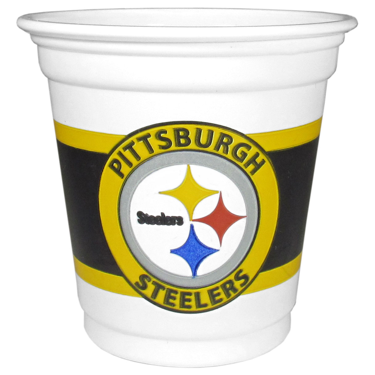 Pittsburgh Steelers 18 Game Day Mini Cups - No better way to show your off your team pride on game day than these Pittsburgh Steelers game day mini cups. The 3 ounce disposable glasses are the perfect addition to your game day party or tailgating BBQ. The cups come in a sleeve of 18 to make sure everyone is sporting true team spirit!