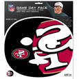 San Francisco 49ers Game Day Face Temporary Tattoo - No better way to show your San Francisco 49ers pride than by painting your face. Siskiyou's Game Day Face Temporary Tattoo isn't your typical face paint. It is a water based application that doesn't smudge, smear or sweat off  while you're wearing it and easily peels off after you're done celebrating your team's big Win! The temporary tattoo is large enough to trim down to fit your face.  Our Game Day Face Temporary Tattoo's are fun for fans of all ages. You may have seen our product before,  these are the same Temporary Face Tattoos as pitched on ABC's Shark Tank. Officially licensed NFL product Licensee: Siskiyou Buckle .com