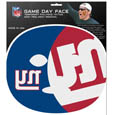 New York Giants Game Day Face Temporary Tattoo - No better way to show your New York Giants pride than by painting your face. Siskiyou's Game Day Face Temporary Tattoo isn't your typical face paint. It is a water based application that doesn't smudge, smear or sweat off  while you're wearing it and easily peels off after you're done celebrating your team's big Win! The temporary tattoo is large enough to trim down to fit your face.  Our Game Day Face Temporary Tattoo's are fun for fans of all ages. You may have seen our product before,  these are the same Temporary Face Tattoos as pitched on ABC's Shark Tank. Officially licensed NFL product Licensee: Siskiyou Buckle .com