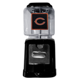 Chicago Bears Black Gumball/Candy Machine - Craving something sweet? Then just reach for your very own Chicago Bears gumball machine! This fun gumball machine accepts nickels, dimes or quarters and can be set for free dispensing. The glass globe is 4 inches wide and tall and can be used for any gumballs or candy that is less than 1/2 inch. The cast metal base is sturdy and features a chrome metal coin receptacle and turn handle. The classic novelty item is perfect for your desk at work, dorm room or game room.