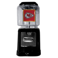Kansas City Chiefs Black Gumball/Candy Machine - Craving something sweet? Then just reach for your very own Kansas City Chiefs gumball machine! This fun gumball machine accepts nickels, dimes or quarters and can be set for free dispensing. The glass globe is 4 inches wide and tall and can be used for any gumballs or candy that is less than 1/2 inch. The cast metal base is sturdy and features a chrome metal coin receptacle and turn handle. The classic novelty item is perfect for your desk at work, dorm room or game room.