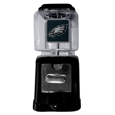 Philadelphia Eagles Black Gumball/Candy Machine - Craving something sweet? Then just reach for your very own Philadelphia Eagles gumball machine! This fun gumball machine accepts nickels, dimes or quarters and can be set for free dispensing. The glass globe is 4 inches wide and tall and can be used for any gumballs or candy that is less than 1/2 inch. The cast metal base is sturdy and features a chrome metal coin receptacle and turn handle. The classic novelty item is perfect for your desk at work, dorm room or game room.