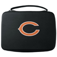 Chicago Bears GoPro Carrying Case - Our Chicago Bears carrying case for GoPro cameras is the perfect balance of style and functionality. This protective case is water resistant, with a water resistant zipper system making it a great way to protect your Go Pro on the go! The case has a durable insert that fits the GoPro 1,2,3,3+ and 4 plus housing, housing backdoors, SD memory card, battery, power plug, remote control, battery pack and LCD. The case has an additional mesh storage pocket for cables and additional accessories. The classic black case features a large printed team logo. Officially licensed NFL product Licensee: Siskiyou Buckle .com