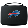Buffalo Bills GoPro Carrying Case - Our Buffalo Bills carrying case for GoPro cameras is the perfect balance of style and functionality. This protective case is water resistant, with a water resistant zipper system making it a great way to protect your Go Pro on the go! The case has a durable insert that fits the GoPro 1,2,3,3+ and 4 plus housing, housing backdoors, SD memory card, battery, power plug, remote control, battery pack and LCD. The case has an additional mesh storage pocket for cables and additional accessories. The classic black case features a large printed team logo. Officially licensed NFL product Licensee: Siskiyou Buckle .com