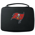 Tampa Bay Buccaneers GoPro Carrying Case - Our Tampa Bay Buccaneers carrying case for GoPro cameras is the perfect balance of style and functionality. This protective case is water resistant, with a water resistant zipper system making it a great way to protect your Go Pro on the go! The case has a durable insert that fits the GoPro 1,2,3,3+ and 4 plus housing, housing backdoors, SD memory card, battery, power plug, remote control, battery pack and LCD. The case has an additional mesh storage pocket for cables and additional accessories. The classic black case features a large printed team logo. Officially licensed NFL product Licensee: Siskiyou Buckle .com