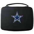 Dallas Cowboys GoPro Carrying Case - Our Dallas Cowboys carrying case for GoPro cameras is the perfect balance of style and functionality. This protective case is water resistant, with a water resistant zipper system making it a great way to protect your Go Pro on the go! The case has a durable insert that fits the GoPro 1,2,3,3+ and 4 plus housing, housing backdoors, SD memory card, battery, power plug, remote control, battery pack and LCD. The case has an additional mesh storage pocket for cables and additional accessories. The classic black case features a large printed team logo. Officially licensed NFL product Licensee: Siskiyou Buckle .com