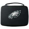 Philadelphia Eagles GoPro Carrying Case - Our Philadelphia Eagles carrying case for GoPro cameras is the perfect balance of style and functionality. This protective case is water resistant, with a water resistant zipper system making it a great way to protect your Go Pro on the go! The case has a durable insert that fits the GoPro 1,2,3,3+ and 4 plus housing, housing backdoors, SD memory card, battery, power plug, remote control, battery pack and LCD. The case has an additional mesh storage pocket for cables and additional accessories. The classic black case features a large printed team logo. Officially licensed NFL product Licensee: Siskiyou Buckle .com