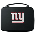 New York Giants GoPro Carrying Case - Our New York Giants carrying case for GoPro cameras is the perfect balance of style and functionality. This protective case is water resistant, with a water resistant zipper system making it a great way to protect your Go Pro on the go! The case has a durable insert that fits the GoPro 1,2,3,3+ and 4 plus housing, housing backdoors, SD memory card, battery, power plug, remote control, battery pack and LCD. The case has an additional mesh storage pocket for cables and additional accessories. The classic black case features a large printed team logo. Officially licensed NFL product Licensee: Siskiyou Buckle .com