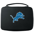 Detroit Lions GoPro Carrying Case - Our Detroit Lions carrying case for GoPro cameras is the perfect balance of style and functionality. This protective case is water resistant, with a water resistant zipper system making it a great way to protect your Go Pro on the go! The case has a durable insert that fits the GoPro 1,2,3,3+ and 4 plus housing, housing backdoors, SD memory card, battery, power plug, remote control, battery pack and LCD. The case has an additional mesh storage pocket for cables and additional accessories. The classic black case features a large printed team logo. Officially licensed NFL product Licensee: Siskiyou Buckle .com