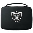 Oakland Raiders GoPro Carrying Case - Our Oakland Raiders carrying case for GoPro cameras is the perfect balance of style and functionality. This protective case is water resistant, with a water resistant zipper system making it a great way to protect your Go Pro on the go! The case has a durable insert that fits the GoPro 1,2,3,3+ and 4 plus housing, housing backdoors, SD memory card, battery, power plug, remote control, battery pack and LCD. The case has an additional mesh storage pocket for cables and additional accessories. The classic black case features a large printed team logo. Officially licensed NFL product Licensee: Siskiyou Buckle Thank you for visiting CrazedOutSports.com