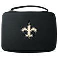 New Orleans Saints GoPro Carrying Case - Our New Orleans Saints carrying case for GoPro cameras is the perfect balance of style and functionality. This protective case is water resistant, with a water resistant zipper system making it a great way to protect your Go Pro on the go! The case has a durable insert that fits the GoPro 1,2,3,3+ and 4 plus housing, housing backdoors, SD memory card, battery, power plug, remote control, battery pack and LCD. The case has an additional mesh storage pocket for cables and additional accessories. The classic black case features a large printed team logo. Officially licensed NFL product Licensee: Siskiyou Buckle .com