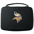 Minnesota Vikings GoPro Carrying Case - Our Minnesota Vikings carrying case for GoPro cameras is the perfect balance of style and functionality. This protective case is water resistant, with a water resistant zipper system making it a great way to protect your Go Pro on the go! The case has a durable insert that fits the GoPro 1,2,3,3+ and 4 plus housing, housing backdoors, SD memory card, battery, power plug, remote control, battery pack and LCD. The case has an additional mesh storage pocket for cables and additional accessories. The classic black case features a large printed team logo. Officially licensed NFL product Licensee: Siskiyou Buckle .com