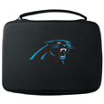 Carolina Panthers GoPro Carrying Case - Our Carolina Panthers carrying case for GoPro cameras is the perfect balance of style and functionality. This protective case is water resistant, with a water resistant zipper system making it a great way to protect your Go Pro on the go! The case has a durable insert that fits the GoPro 1,2,3,3+ and 4 plus housing, housing backdoors, SD memory card, battery, power plug, remote control, battery pack and LCD. The case has an additional mesh storage pocket for cables and additional accessories. The classic black case features a large printed team logo. Officially licensed NFL product Licensee: Siskiyou Buckle Thank you for visiting CrazedOutSports.com