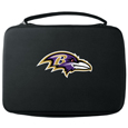 Baltimore Ravens GoPro Carrying Case - Our Baltimore Ravens carrying case for GoPro cameras is the perfect balance of style and functionality. This protective case is water resistant, with a water resistant zipper system making it a great way to protect your Go Pro on the go! The case has a durable insert that fits the GoPro 1,2,3,3+ and 4 plus housing, housing backdoors, SD memory card, battery, power plug, remote control, battery pack and LCD. The case has an additional mesh storage pocket for cables and additional accessories. The classic black case features a large printed team logo. Officially licensed NFL product Licensee: Siskiyou Buckle .com