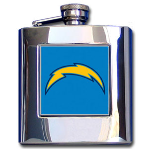 NFL Hip Flask - San Diego Chargers - Officially licensed NFL hip flask is made of quality stainless steel featuring a hand enameled team logo. Officially licensed NFL product Licensee: Siskiyou Buckle Thank you for visiting CrazedOutSports.com