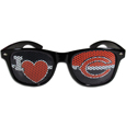 Chicago Bears I Heart Game Day Shades - Our officially licensed I Heart game day shades are the perfect accessory for the devoted Chicago Bears fan! The sunglasses have durable polycarbonate frames with flex hinges for comfort and damage resistance. The lenses feature brightly colored team clings that are perforated for visibility. Officially licensed NFL product Licensee: Siskiyou Buckle Thank you for visiting CrazedOutSports.com