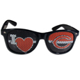 Chicago Bears I Heart Game Day Shades - Our officially licensed I Heart game day shades are the perfect accessory for the devoted Chicago Bears fan! The sunglasses have durable polycarbonate frames with flex hinges for comfort and damage resistance. The lenses feature brightly colored team clings that are perforated for visibility. Officially licensed NFL product Licensee: Siskiyou Buckle .com
