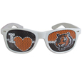 Cincinnati Bengals I Heart Game Day Shades - Our officially licensed I Heart game day shades are the perfect accessory for the devoted Cincinnati Bengals fan! The sunglasses have durable polycarbonate frames with flex hinges for comfort and damage resistance. The lenses feature brightly colored team clings that are perforated for visibility. Officially licensed NFL product Licensee: Siskiyou Buckle Thank you for visiting CrazedOutSports.com