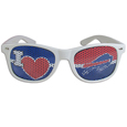 Buffalo Bills I Heart Game Day Shades - Our officially licensed I Heart game day shades are the perfect accessory for the devoted Buffalo Bills fan! The sunglasses have durable polycarbonate frames with flex hinges for comfort and damage resistance. The lenses feature brightly colored team clings that are perforated for visibility. Officially licensed NFL product Licensee: Siskiyou Buckle Thank you for visiting CrazedOutSports.com
