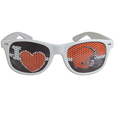 Cleveland Browns I Heart Game Day Shades - Our officially licensed I Heart game day shades are the perfect accessory for the devoted Cleveland Browns fan! The sunglasses have durable polycarbonate frames with flex hinges for comfort and damage resistance. The lenses feature brightly colored team clings that are perforated for visibility. Officially licensed NFL product Licensee: Siskiyou Buckle Thank you for visiting CrazedOutSports.com